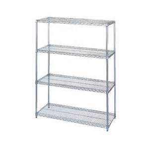 Wire Shelving Wesco Chrome Plated Wire Shelving Starter Unit