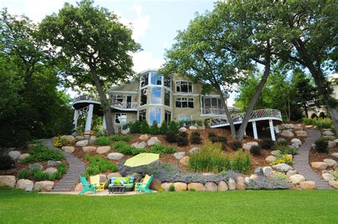 backyard hillside landscaping backyard lake ideas lake minnetonka hillside landscape garden love pinterest