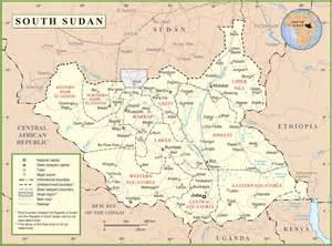 Sudan World Map by South Sudan Political Map