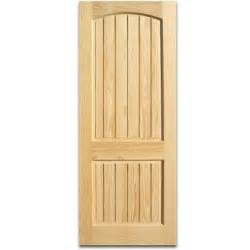 32 quot x 80 quot 2 panel arch top clear pine interior door slab