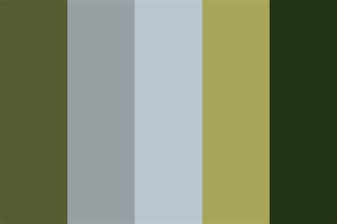 in colors dusk in forest color palette