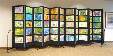 renew art show on display in downtown sheridan art display systems portable room dividers folding