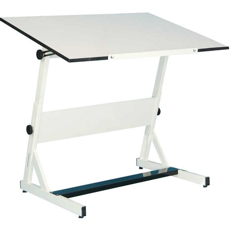 Drafting Table Cheap Save On Discount Utrecht Contemporary Drafting Table Tiltable White Melamine Top More At