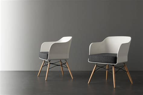 Small Modern Armchair by Small Armchair With White Polypropylene Shell Idfdesign