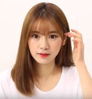 tutorial rambut berponi gambar gaya rambut artis korea bikin kamu potong poni cari