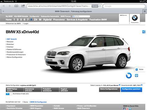 Auto Konfigurator Audi by Der Neue Bmw Konfigurator Im Schnelltest Marketing Statt