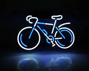 neon light wall bicycle bicycle neon sign light club home room wall poster