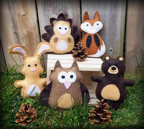 pattern for felt woodland animals woodland animal sewing patterns mini woodland felties