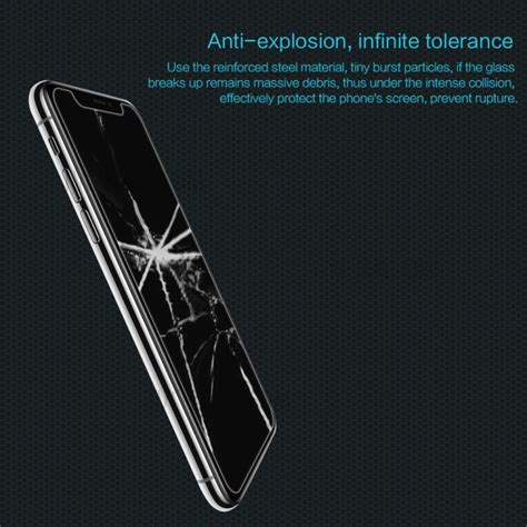 Tempered Glass Nillkin Iphone X Amazing H 1 nillkin amazing h tempered glass anti burst screen protector for iphone x tvc mall