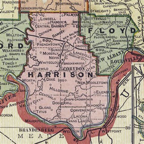 harrison county map every county 171 page 3