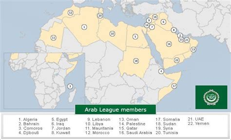 arab league map opinions on member states of the arab league