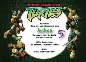 teenage mutant ninja turtles digital birthday invitation