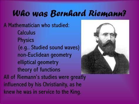 bernhard riemann early life ppt bernhard riemann powerpoint presentation id 181886