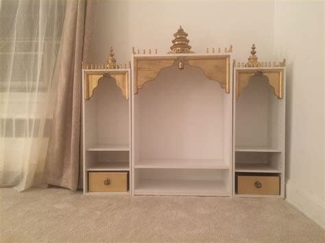pooja mandir diy ikea my mother has been wanting a nice temple for her prayers