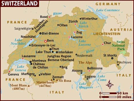 Search Switzerland Map Of Switzerland