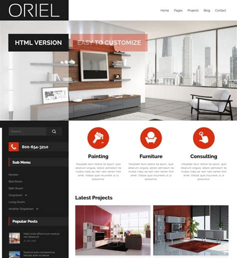 interior design template 50 interior design furniture website templates 2017