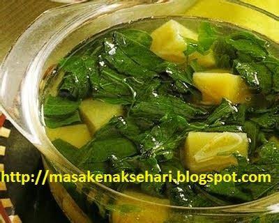 resep  membuat sayur daun ubi jalar