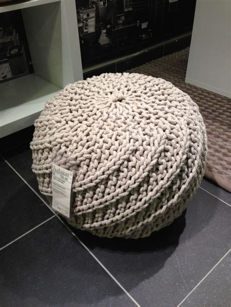 ottoman knitted knitted ottoman nice furniture pinterest