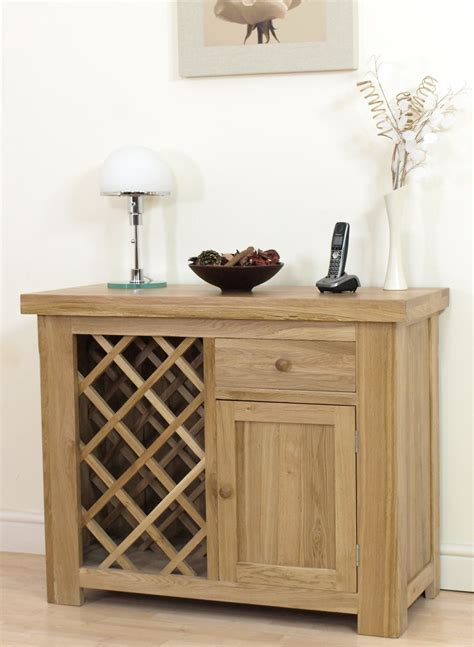 new solid oak dining room sideboard wine rack cabinet ebay