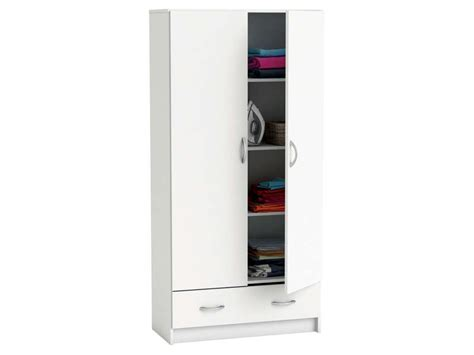 armoire cobi coloris blanc vente de armoire conforama