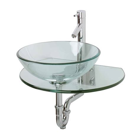 mounting a vessel unique wall mount console clear durable tempered glass