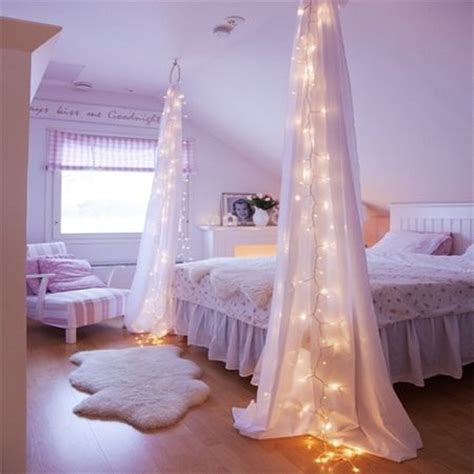 fairy string lights bedroom fairy string lights drapes canopy bedroom click for more