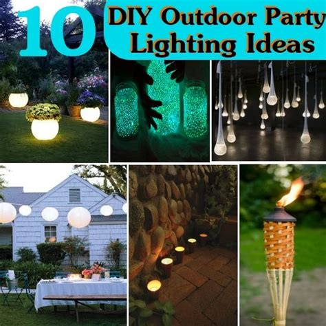 diy backyard party ideas 10 diy outdoor party lighting ideas sreen at the foord