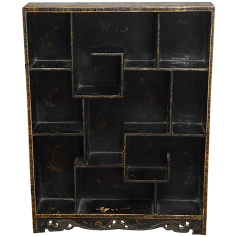 lacquer etagere display shelf at 1stdibs