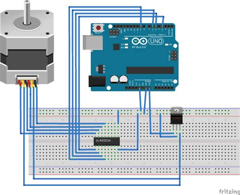 arduino code to control stepper motor fritzing project stepper motor control