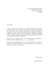 Standard Covering Letter by Standard Cover Letter For Employment Covering Letter Exle