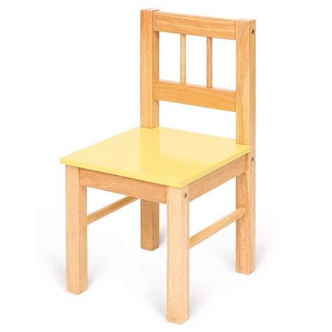 Wooden Chair bigjigs childs wooden chair yellow