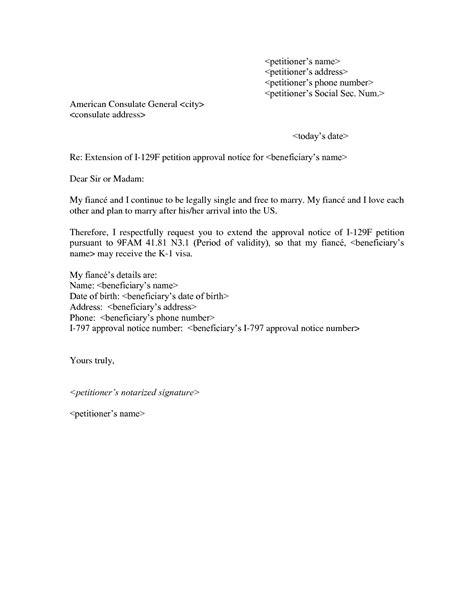 Visa Extension Letter 11 best images of visa petition letter sle visa