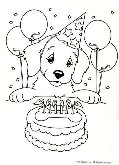 color  puppy coloring pages birthday coloring pages happy birthday coloring pages