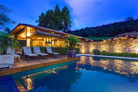 Cottage Style Backyards Outdoor Pool Deck Stone Wall Charming Rustic House In