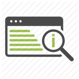 Websites To Find Information About Find Info Information Magnifying Glass Optimization Search Seo Website Icon