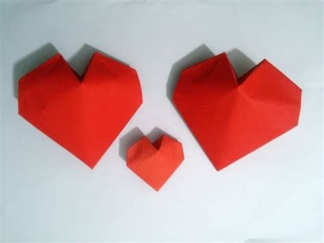 3d Origami Hearts - s day ideas origami 3d paper