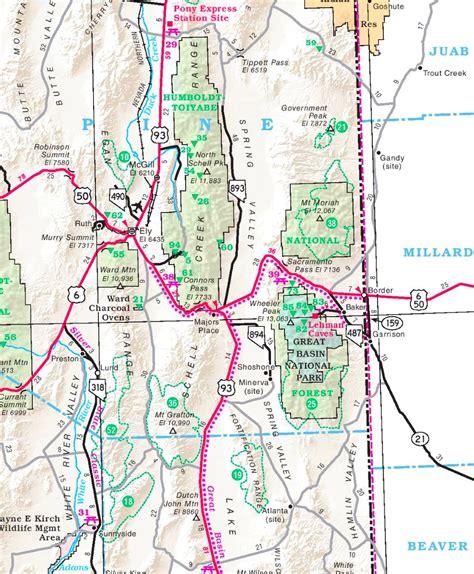 great basin usa map great basin area road map