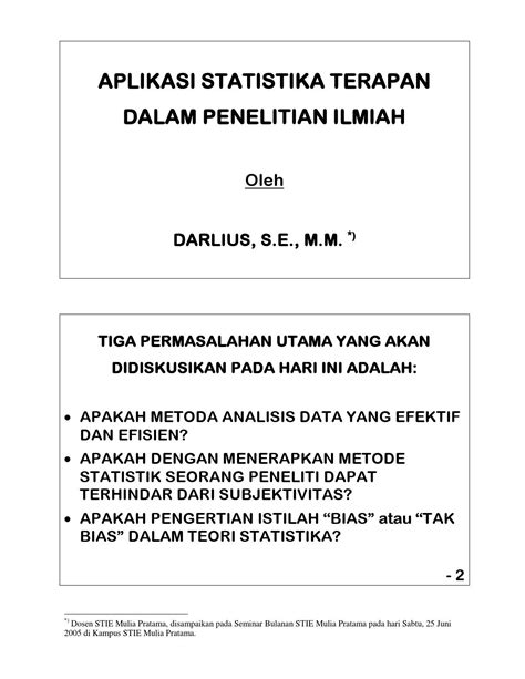 Rumus Dan Data Dalam Aplikasi Statistika darlius aplikasi statistika terapan dalam penelitian ilmiah by stie mulia pratama bekasi issuu