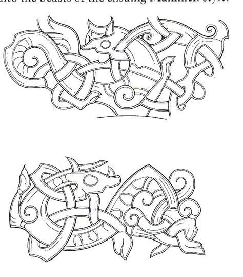 viking hairstyles symbols thyra the vikings viking art the jellinge style