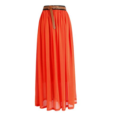 Pleated Chiffon Skirt pleated chiffon maxi skirt dress