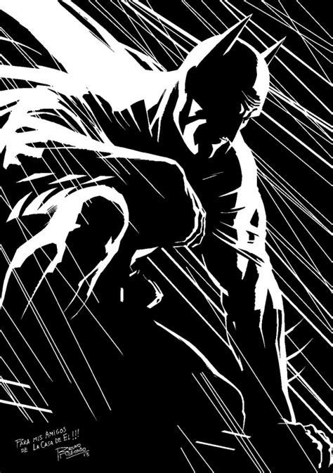 imagenes de batman a blanco y negro bruno redondo dedica una ilustraci 243 n a la casa de el