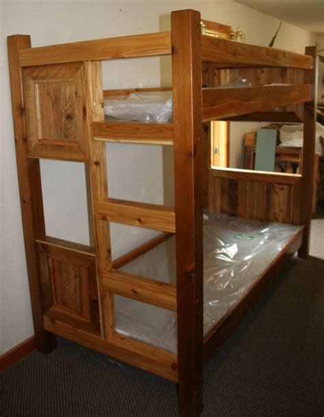 Reclaimed Wood Bunk Beds Barnwood Style Bunk Bed From Reclaimed Cedar Barn Wood Furniture Rustic Furniture Log