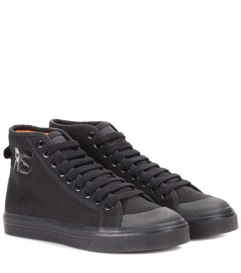 adidas by raf simons spirit high top sneaker in black modesens