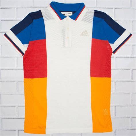 color block polo shirt adidas x pharrell williams ny colorblock polo shirt