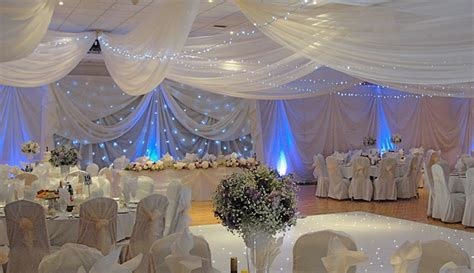 draping for wedding venues ivory draping with blue lighting and star cloth misc