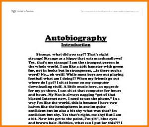 How To Write A Autobiography Paper 4 Autobiography Example Essay Appeal Letters Sample