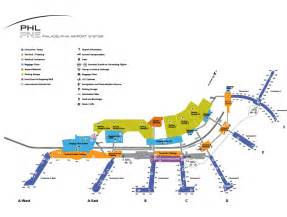 airport map philadelphia international airport terminal map
