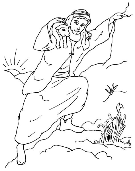 The Lost Sheep Coloring Pages free coloring pages of lost sheep craft