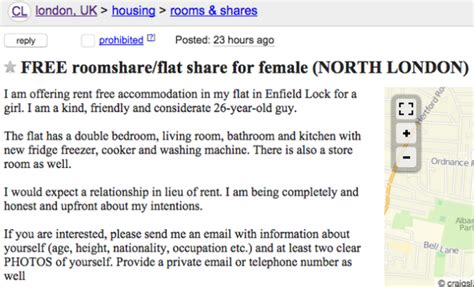 Craigslist Shared Rooms by 16 Creepy Ads From On Craigslist Who Are Offering