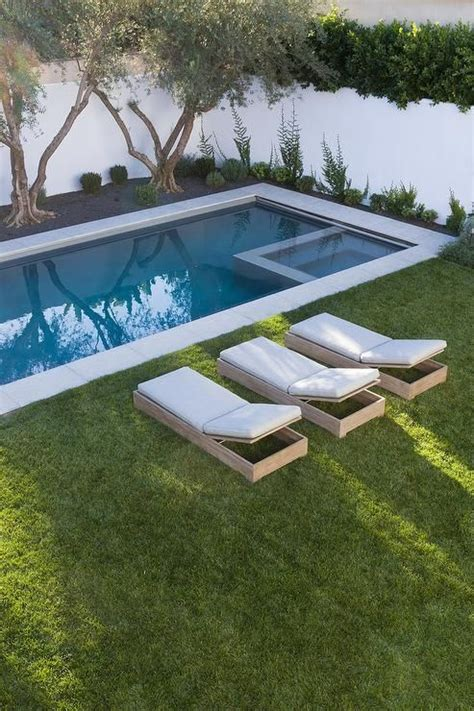 pools in backyard 25 best ideas about rectangle pool on